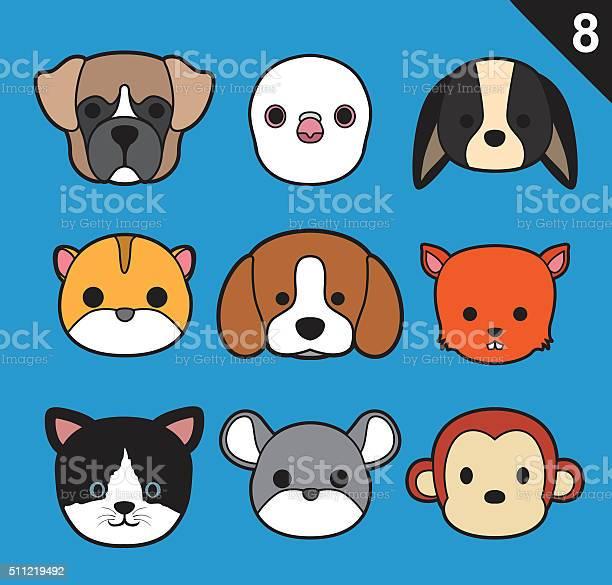 Flat animal faces stroke icon cartoon vector set 8 vector id511219492?b=1&k=6&m=511219492&s=612x612&h=pczdfydca3xtvw jvzqjlbgimo  i9bs9kyi9lgzdn8=