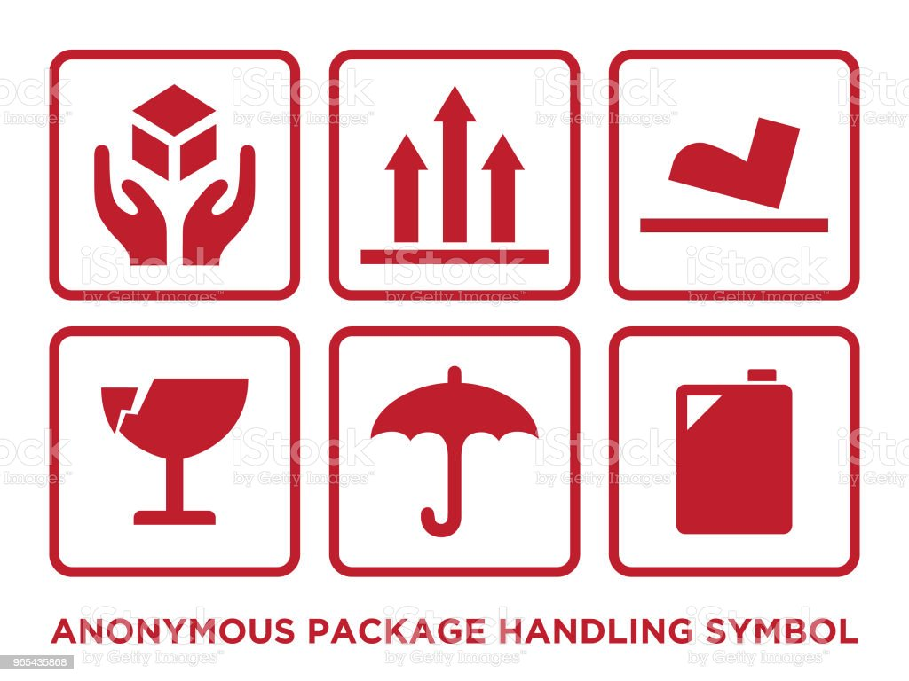 Flat anonymous package handling symbol with red color royalty-free flat anonymous package handling symbol with red color stock vector art & more images of abstract