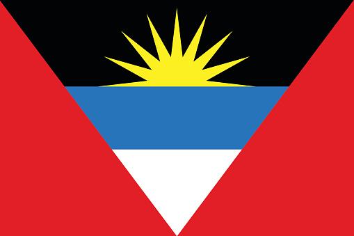 Flat Antigua and Barbuda flag vector