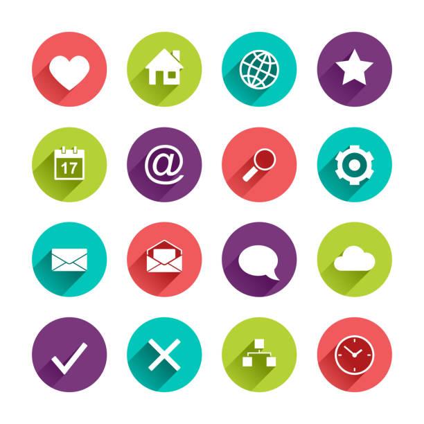 ilustraciones, imágenes clip art, dibujos animados e iconos de stock de conjunto de iconos de aplicaciones planas - zoom call