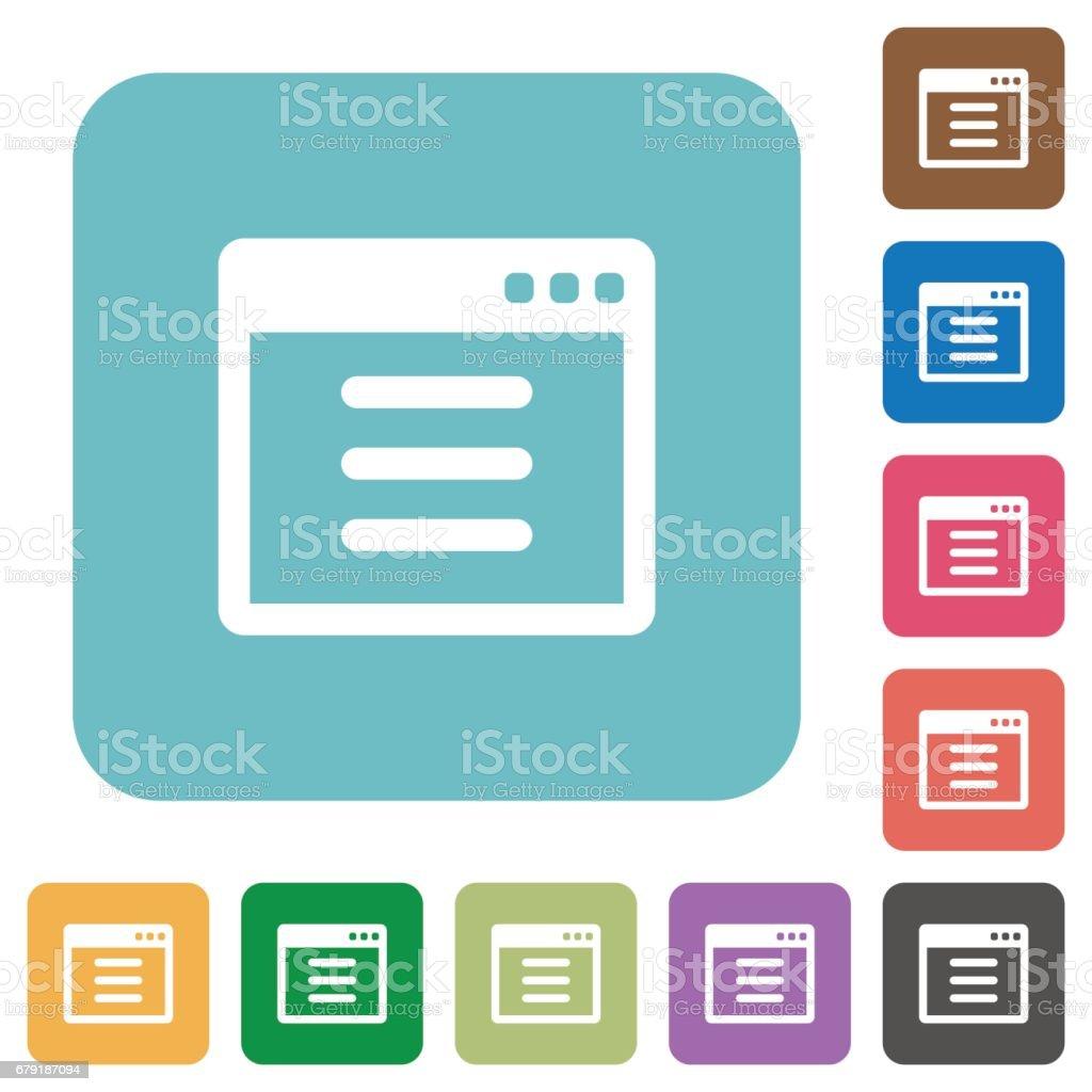 Flat application options icons flat application options icons – cliparts vectoriels et plus d'images de application mobile libre de droits