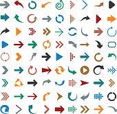 Flat arrow icons