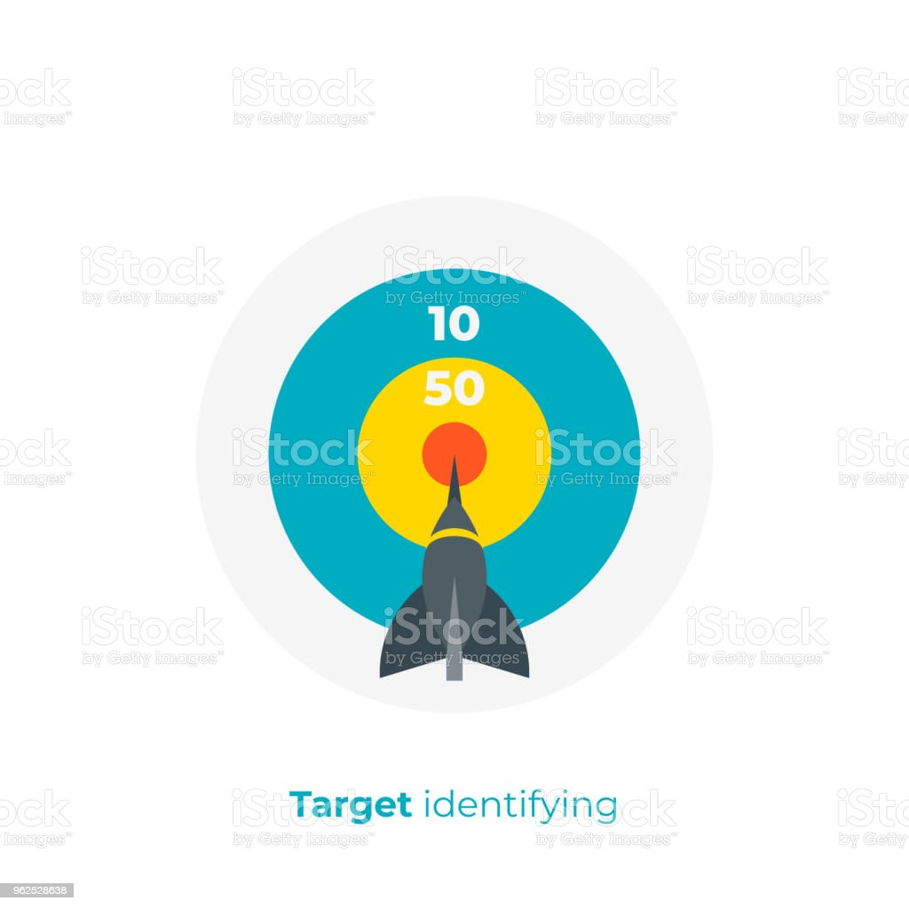 flat art darts. Business target. Team building. Scalable vector icon in modern flat style. cartoon elements vector illustration. - Royalty-free Aiming stock vector