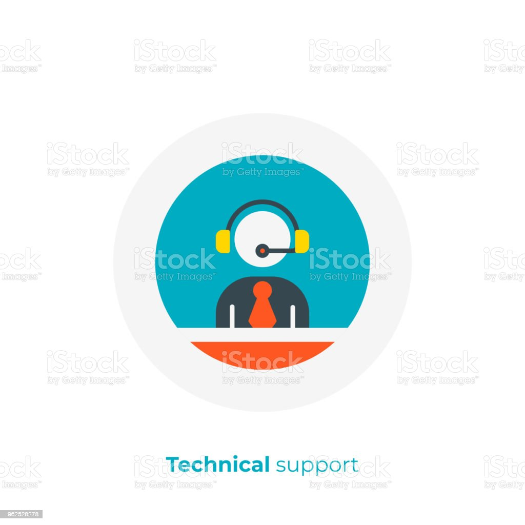 flat art stick support. Business assistance. Scalable vector icon in...