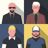 Flat avatar portraits