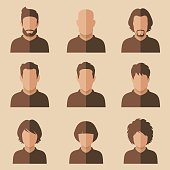 flat avatar, vector people