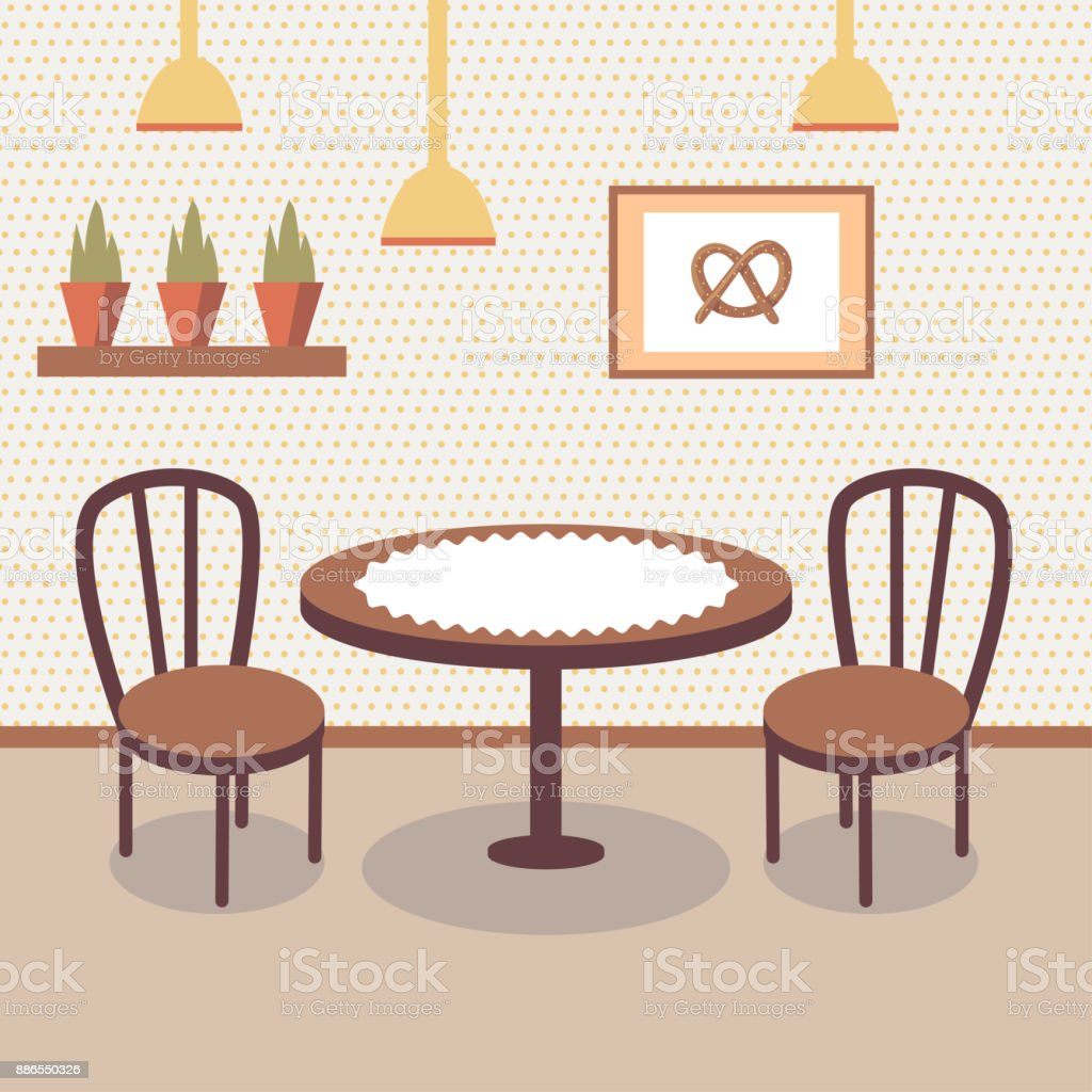 https://media.istockphoto.com/vectors/flat-bakery-store-interior-with-table-covered-with-white-cloth-two-vector-id886550326