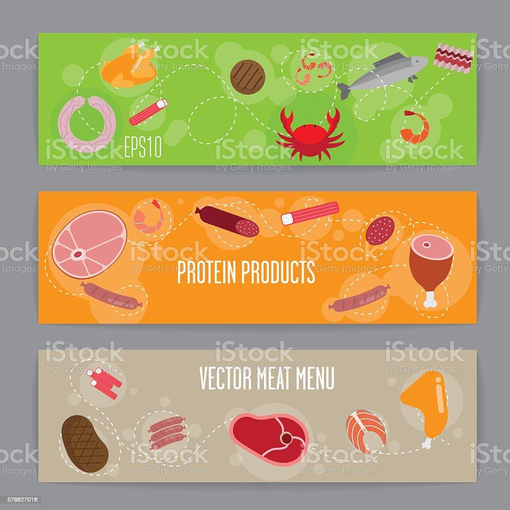Flat banner vector art illustration