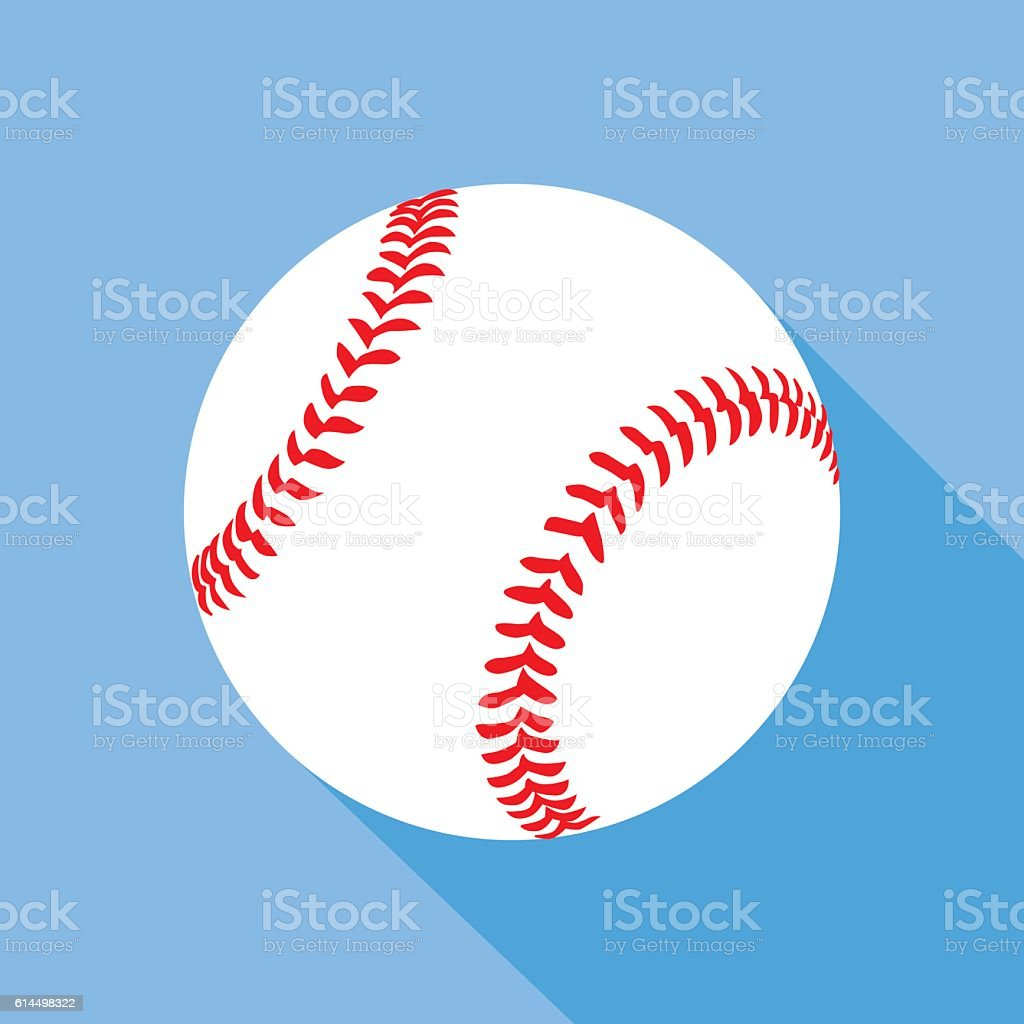 Flat Baseball Icon vector art illustration