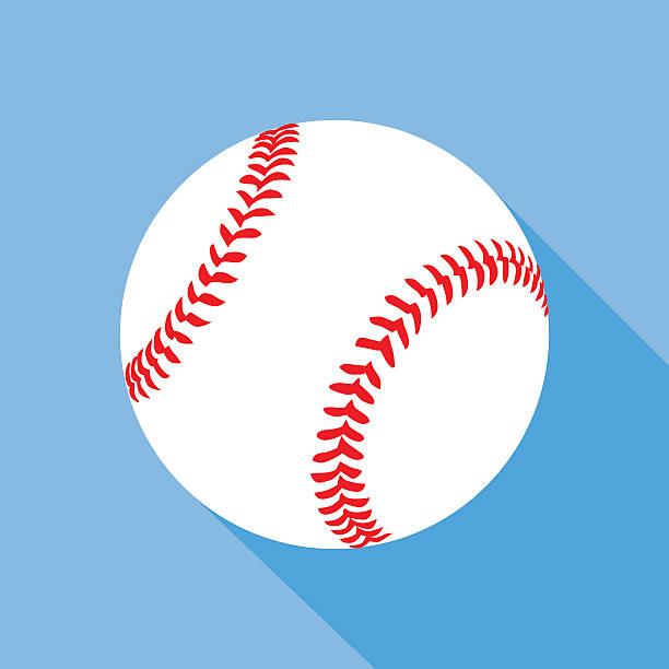 flat baseball icon - baseball stock-grafiken, -clipart, -cartoons und -symbole