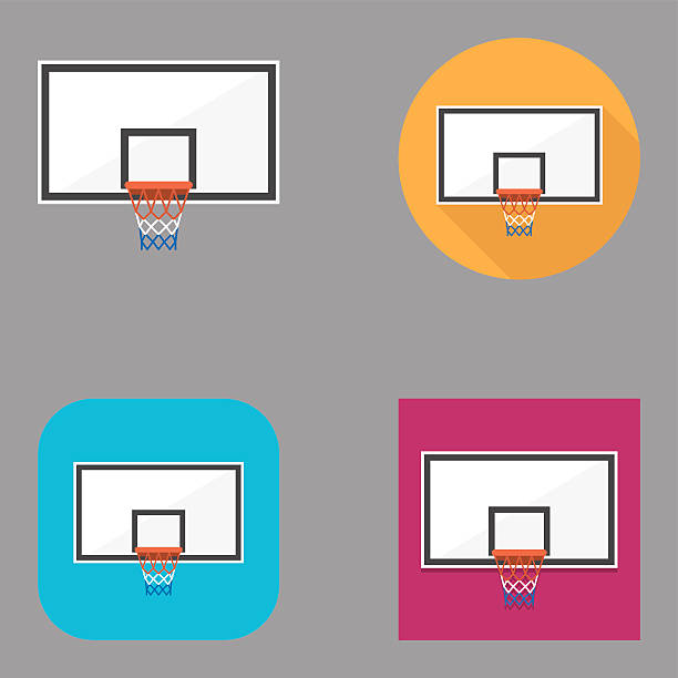 Basketball-Backboard flache icons/Kalaful series – Vektorgrafik