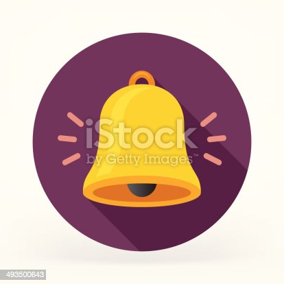 Flat & Long Shadow Bell Icon