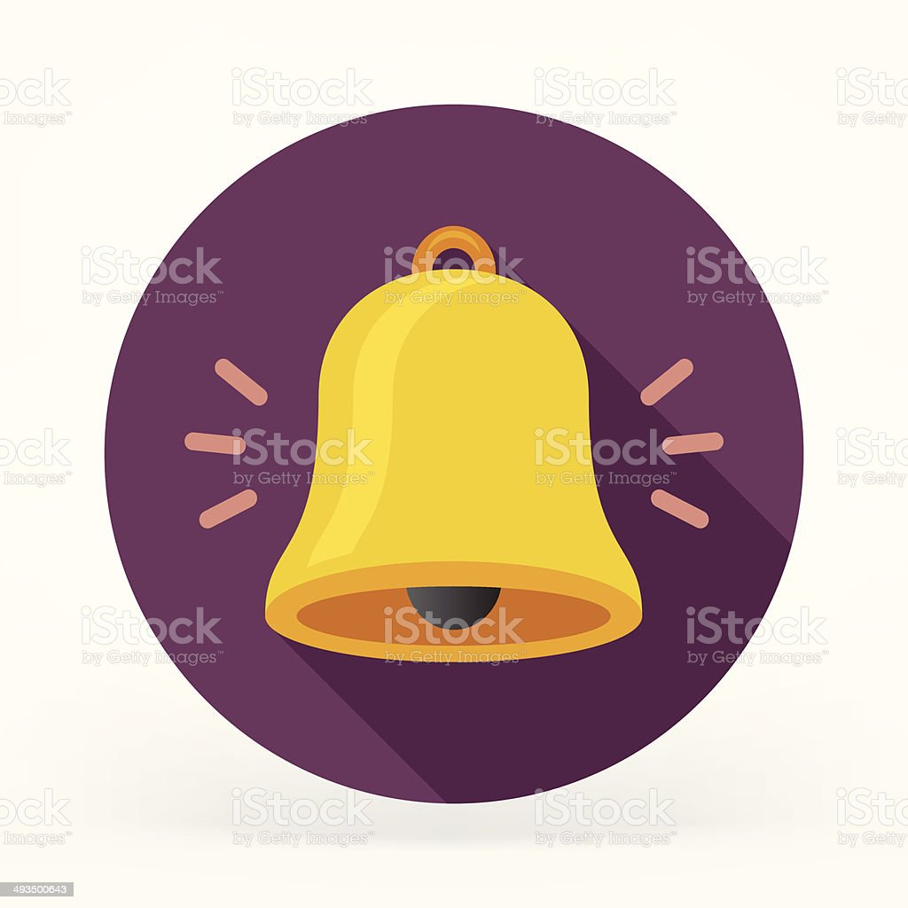 Flat Bell Icon vector art illustration