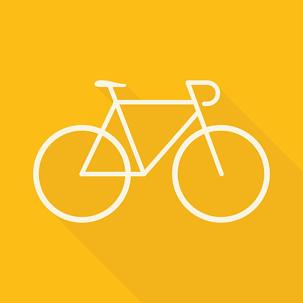 flat bicycle - bike stock illustrations, clip art, cartoons, & icons