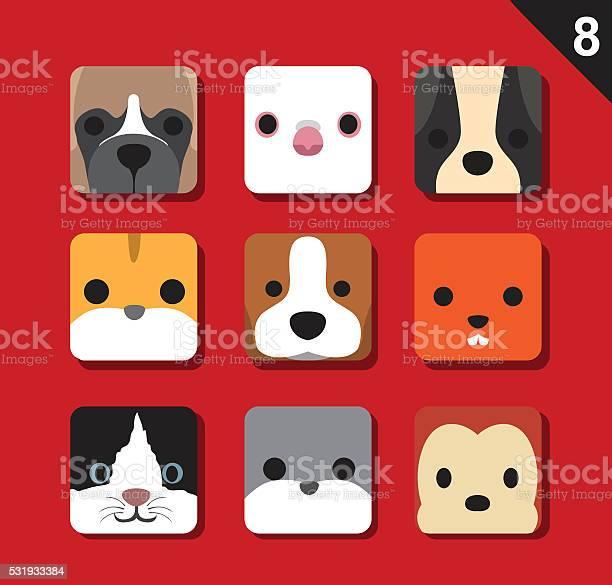 Flat big animal faces application icon cartoon vector set 8 vector id531933384?b=1&k=6&m=531933384&s=612x612&h=aaegjata4ibbt9i5sqam3okkkxjptdepshplfuyzpdq=