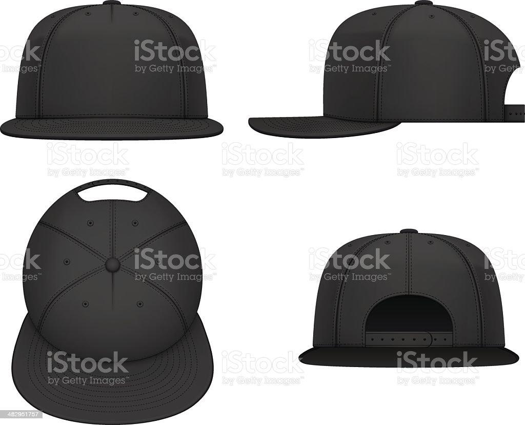 Flat bill cap royalty-free flat bill cap stock vector art & more images of black color
