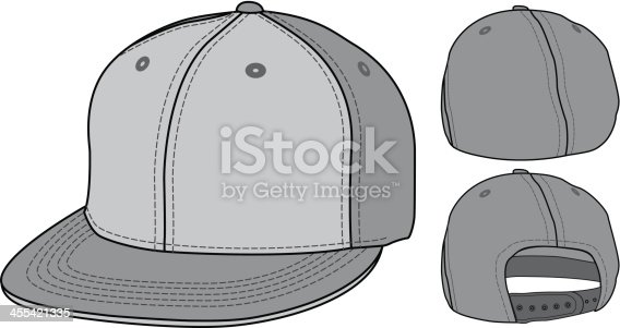 Flat Bill Urban Fitted and Adjustable Hat Cap