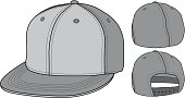 Flat bill hat with a fitted and adjustable option. Allow elements are customizable.