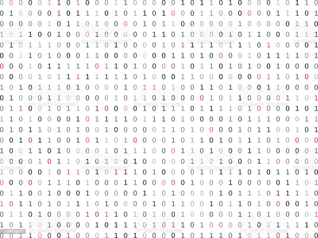 Flat Binary Code Screen Stock Vector Art More Images Of Binary