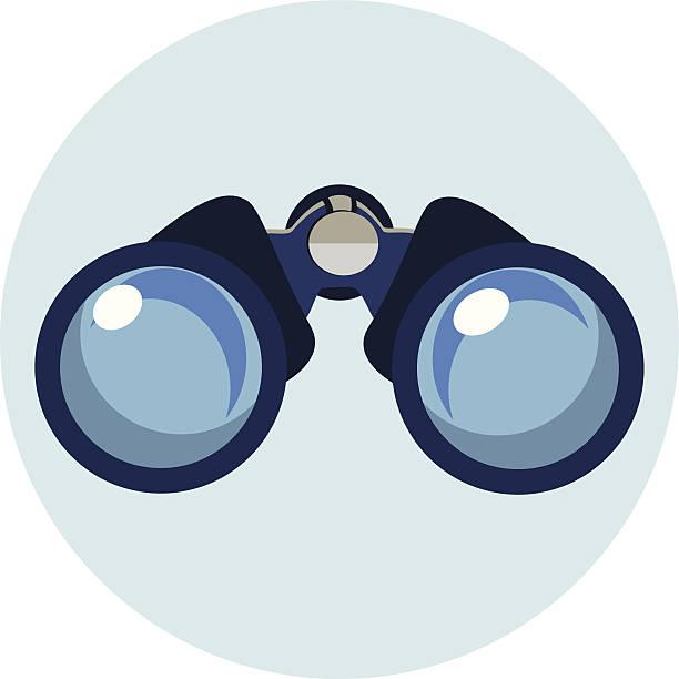 Flat Binocular Icon Flat Bonoculars Icon binoculars stock illustrations