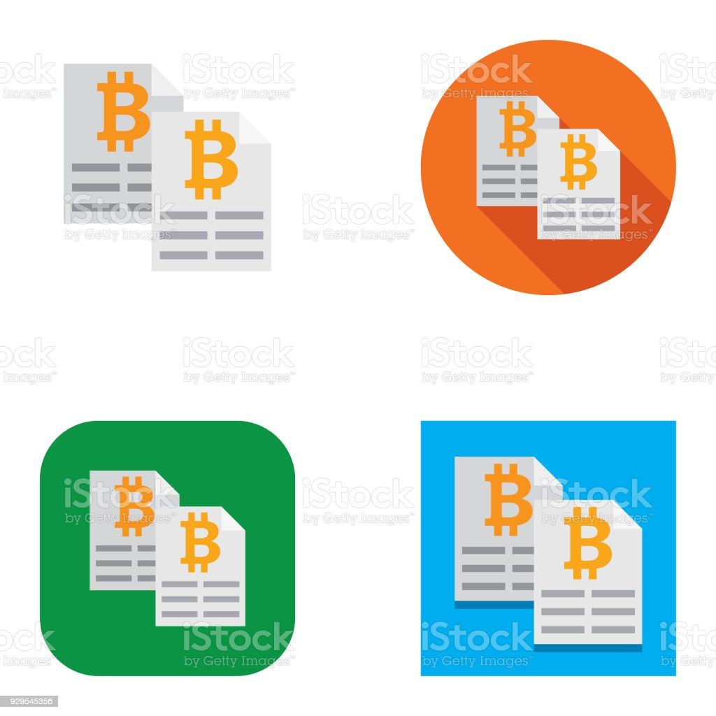 Flat Bitcoin Ledger Icons