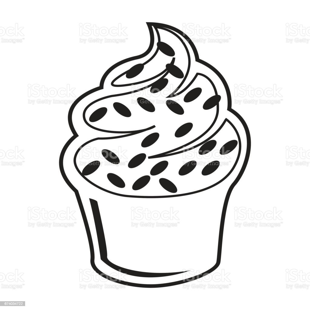 Flat black chococlate cupcake icon royalty-free flat black chococlate cupcake icon stock vector art & more images of black color
