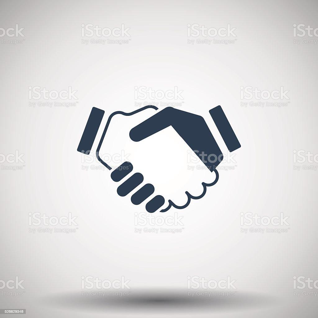 Flat black Handshake Agreement icon vector art illustration