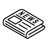 istock flat black newspaper vector icon 1180200398
