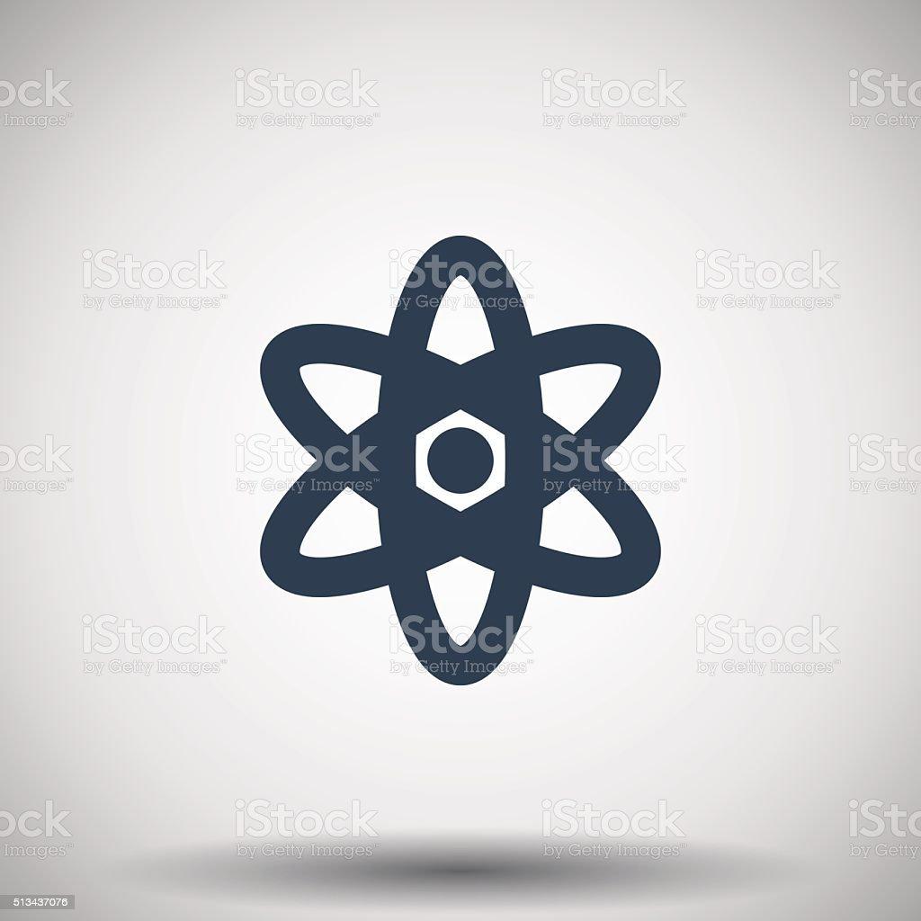Flat black Nuclear icon vector art illustration