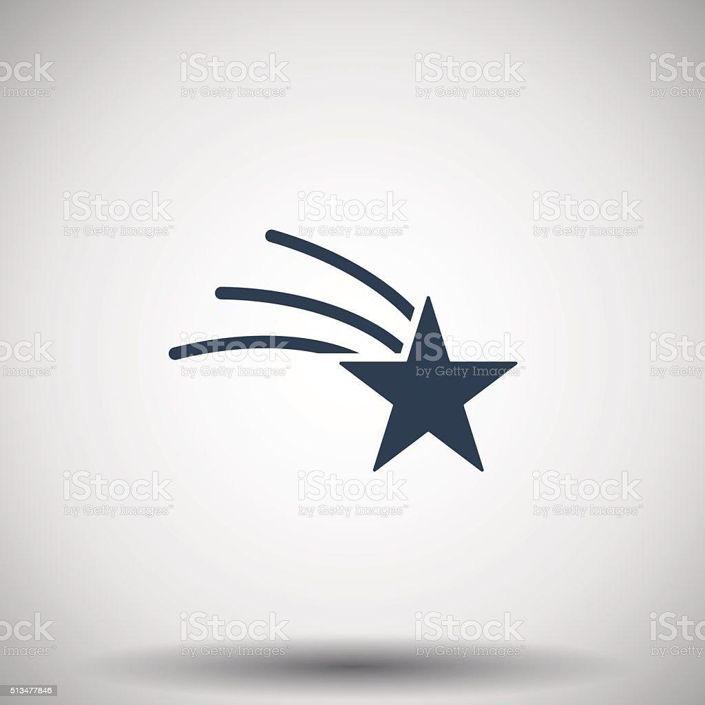 Flat black Shooting Star icon vector art illustration