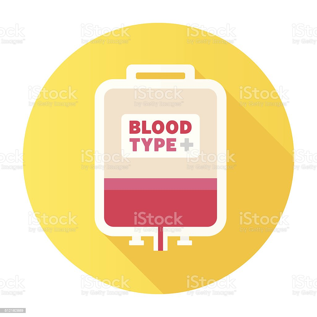 Flat Blood Bag Icon vector art illustration