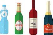 Flat bottles