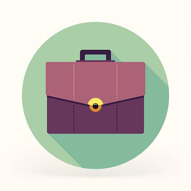 illustrazioni stock, clip art, cartoni animati e icone di tendenza di portadocumenti icona - borsa 24 ore