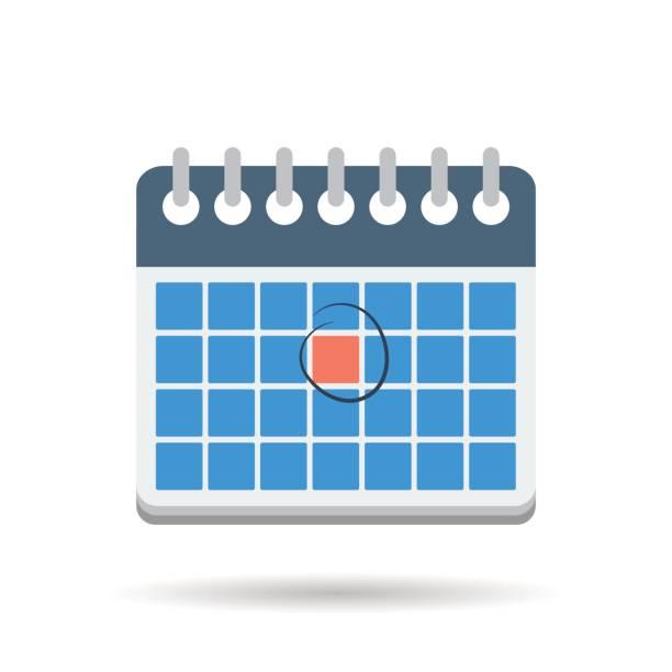 フラット茶色ビジネスマン バッグ アイコン - トレーニングのカレンダー点のイラスト素材/クリップアート素材/マンガ素材/アイコン素材