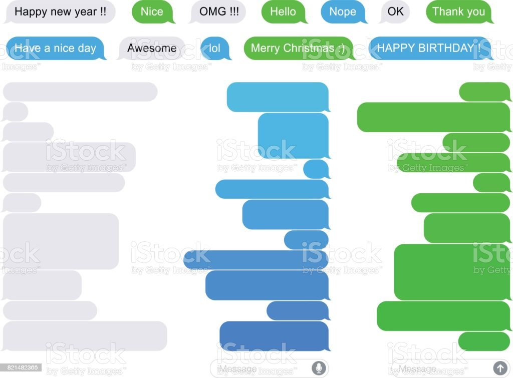 SMS Flat bubbles