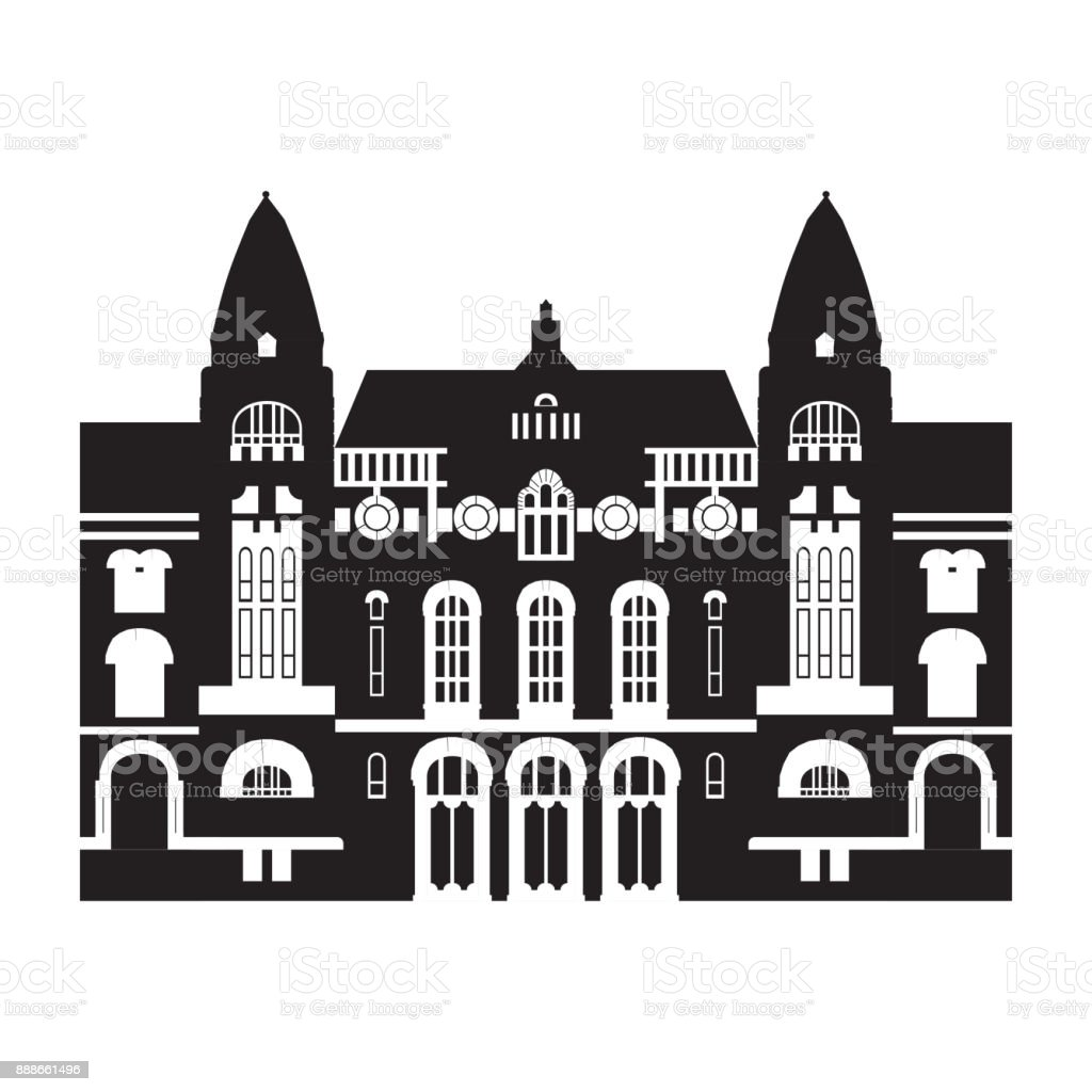 Royalty Free Helsinki Lutheran Cathedral Clip Art Vector