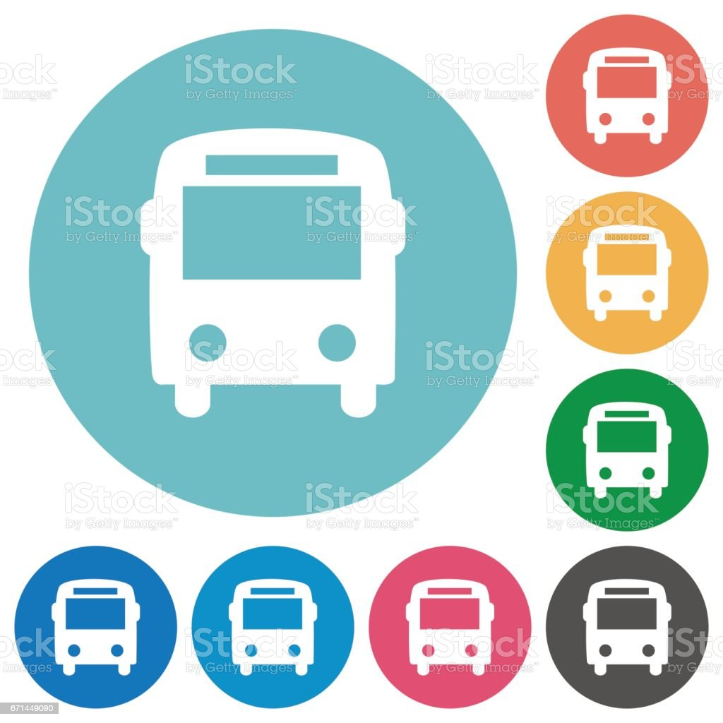 Icônes de bus plat - Illustration vectorielle