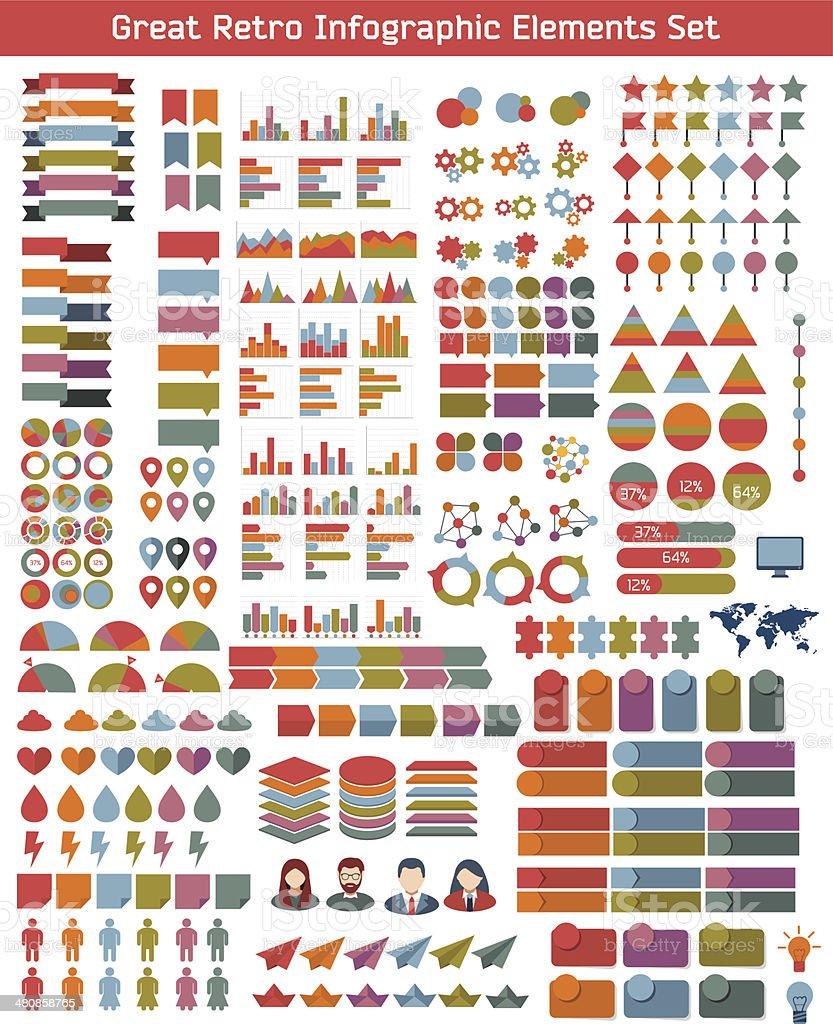 Flat Business Infographic Background vector art illustration