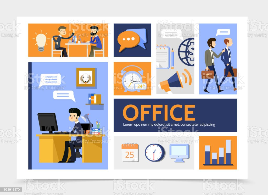 Flat Business Infographic Template - Royalty-free Adult stock vector