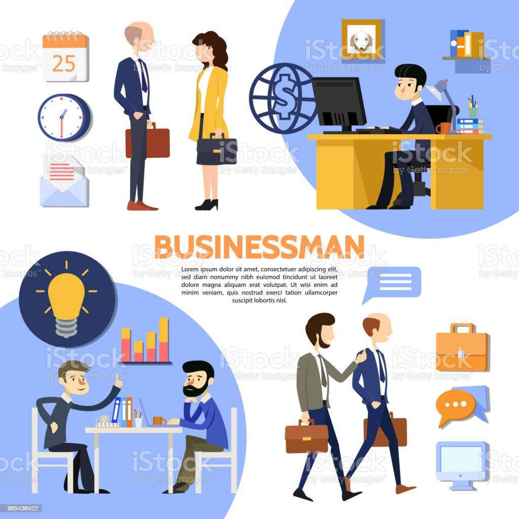 Flat Business Office Poster royalty-free flat business office poster stock vector art & more images of adult
