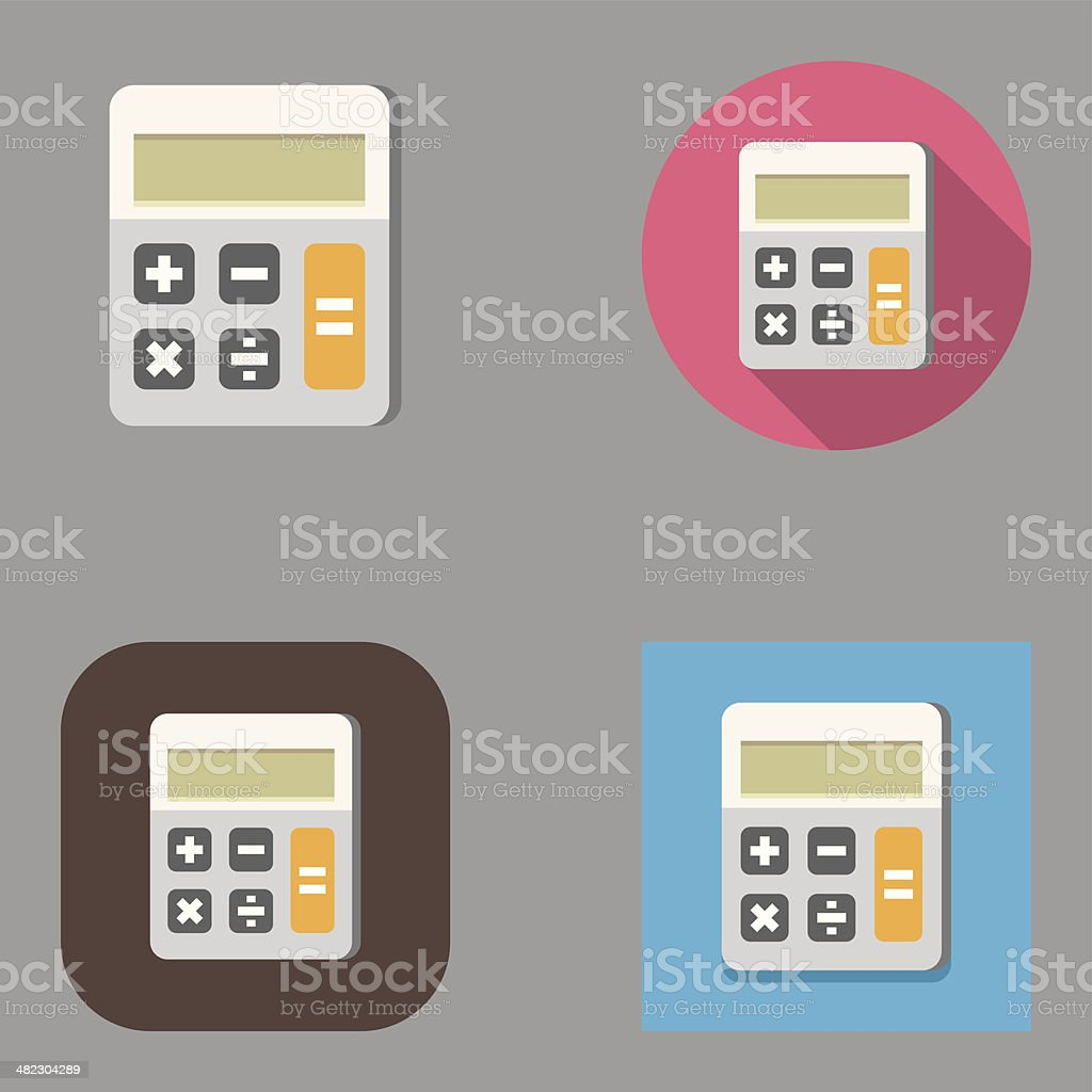 Flat Calculator icons | Kalaful series royalty-free stock vector art