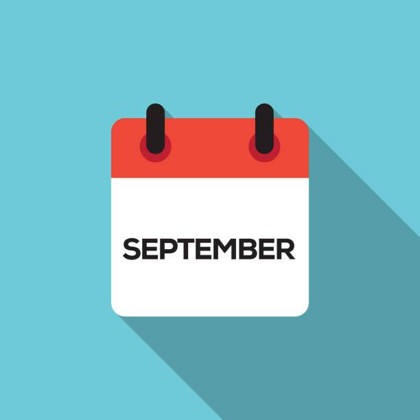 Flat Calendar Design - September Flat Calendar Design - September december illustrations stock illustrations