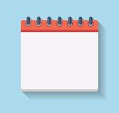 Flat Calendar Icon. Blank calendar template