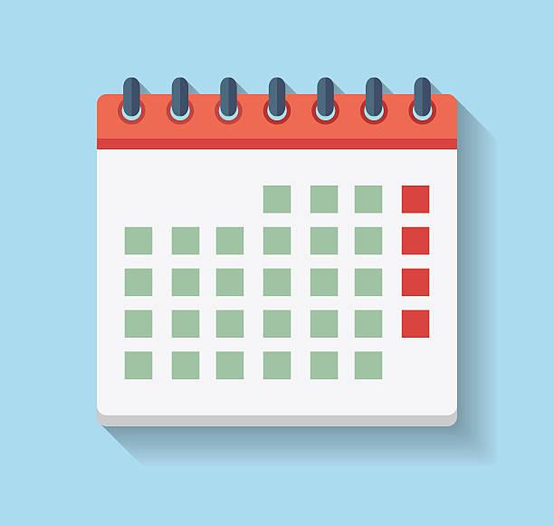 flat calendar icon. - büro zukunft und niemand stock-grafiken, -clipart, -cartoons und -symbole