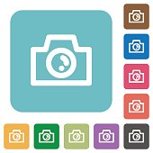 Flat camera icons