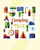 flat camping time