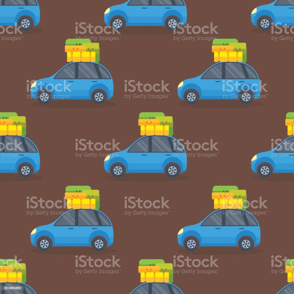 Flat car vehicle type design sedan seamless pattern vector generic classic business auto illustration vector art illustration
