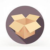 Flat & Long Shadow Card Box Icon