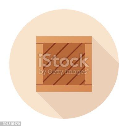 istock Flat Cargo Icon 501815429