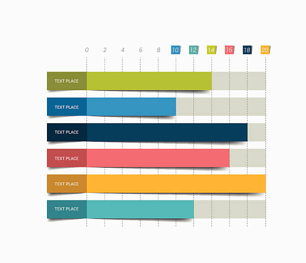 Flat chart, graph. Simply color editable. Infographics elements. vector art illustration